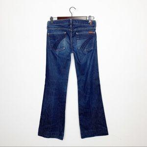 7FAM DOJO Flare Jeans Size 27